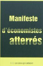 Couverture de Manifeste d'économistes atterrés