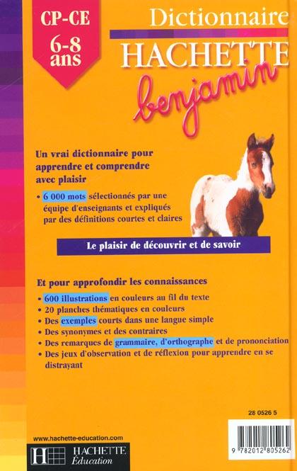 Dictionnaire hachette benjamin