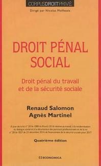 Droit pénal social ; droit pénal du travail et de la sécurité sociale (4e édition)