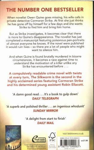 THE SILKWORM - CORMORAN STRIKE: BOOK 2