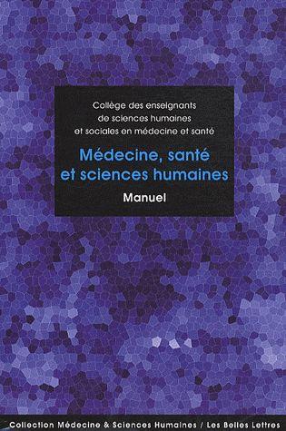 Medecine, Sante Et Sciences Humaines ; Manuel