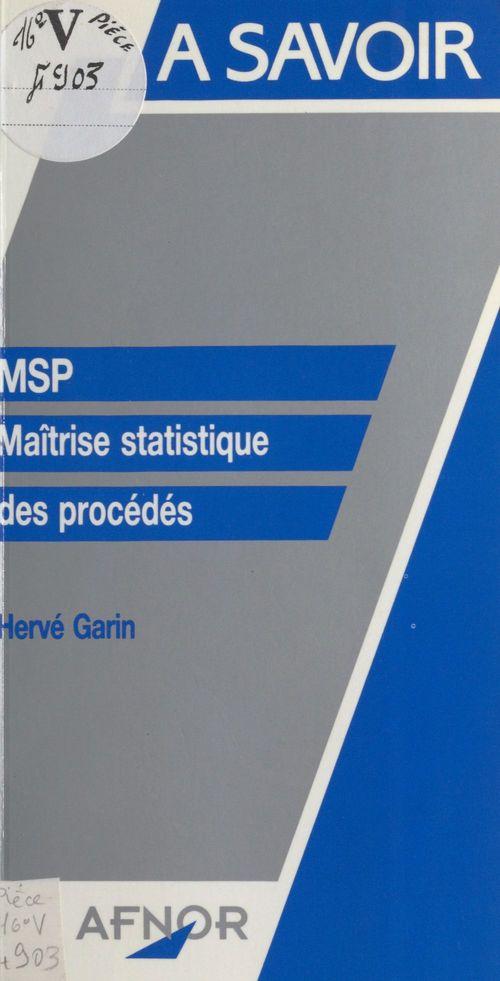 Msp ; maitrise statistique des procedes