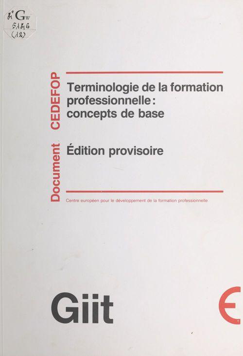 Terminologie de la formation professionnelle : concepts de base