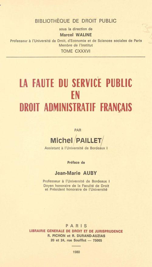 Faute du service public
