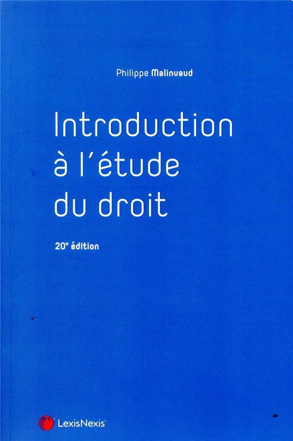 Introduction à l'étude du droit (20e édition)
