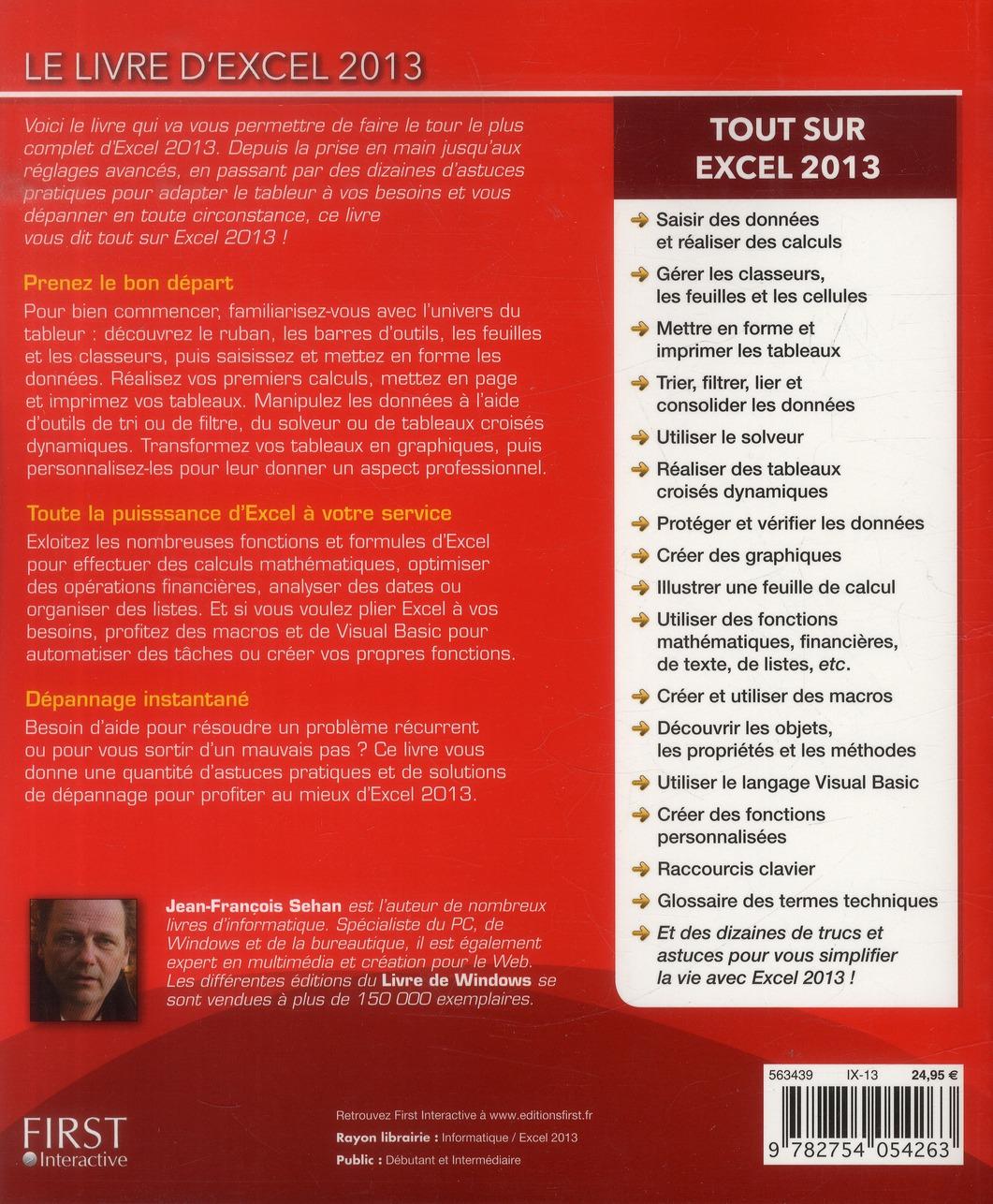 Le livre d'Excel 2013