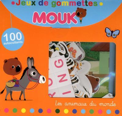 Mouk ; les animaux du monde ; jeux de gommettes