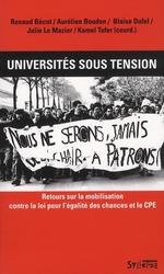 Couverture de Universités sous tension ; auto-organisation et mobilisations