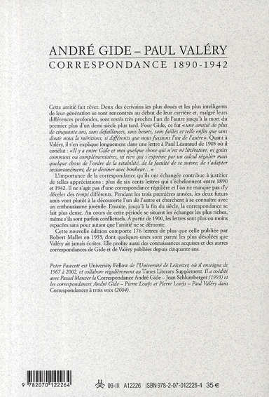 Les cahiers de la NRF ; correspondance ; 1890-1942