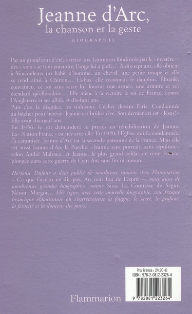 Jeanne d'Arc, la chanson et la geste