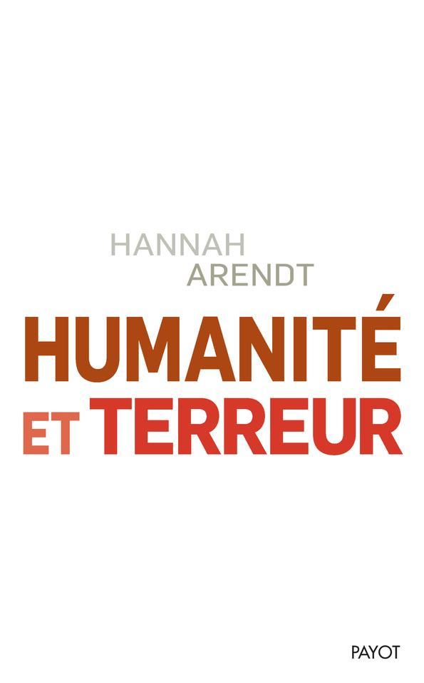 Humanite Et Terreur