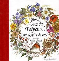 Agenda perpétuel aux quatre saisons