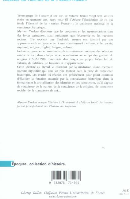 Enquêtes sur l'identité de la nation France