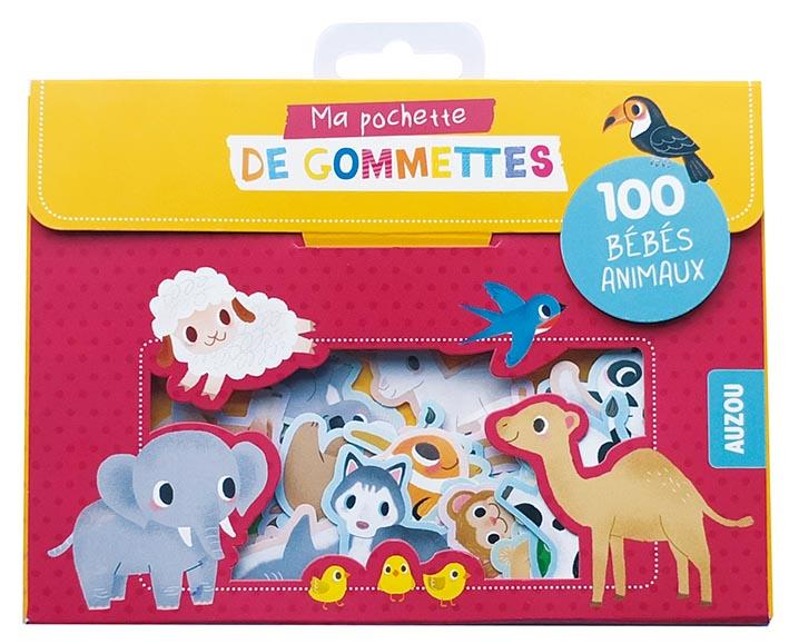 Ma pochette de gommettes ; 100 gommettes bébés animaux