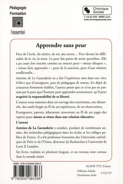 Apprendre sans peur (2e édition)