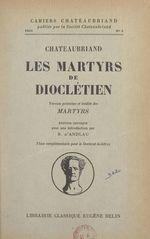 """Vente Livre Numérique : Chateaubriand, """"Les Martyrs de Dioclétien""""  - François-René de Chateaubriand"""