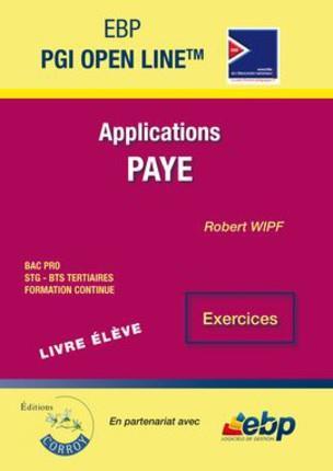 EBP PGI open line ligne ; applications Paye ; livre élève, exercices