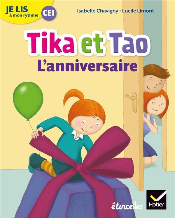 Etincelles ; Je Lis A Mon Rythme ; Lecture Ce1 ; Tika Et Tao, L'Anniversaire (Edition 2019)