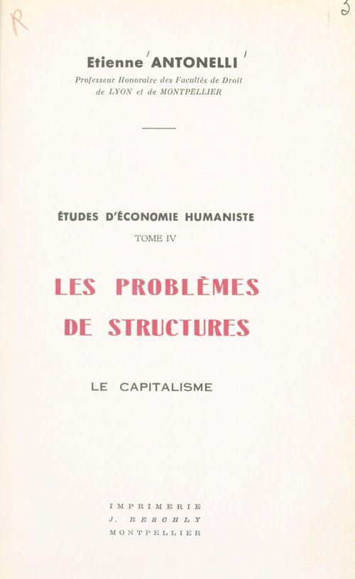 Études d'économie humaniste (4)