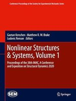 Nonlinear Structures & Systems, Volume 1  - Gaetan Kerschen - Matthew R.W. Brake - Ludovic Renson