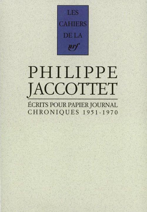 Ecrits pour papier journal