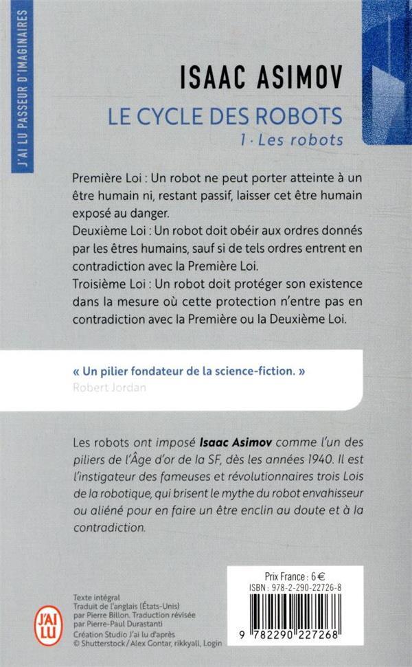Le cycle des robots t.1