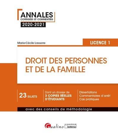droit des personnes et de la famille ; L1 (édition 2020/2021)