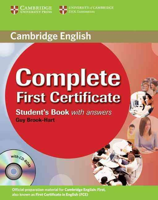 COMPLETE FIRST CERTIFICATE STUDENT BOOK WITH ANSWERS AND CD-ROM