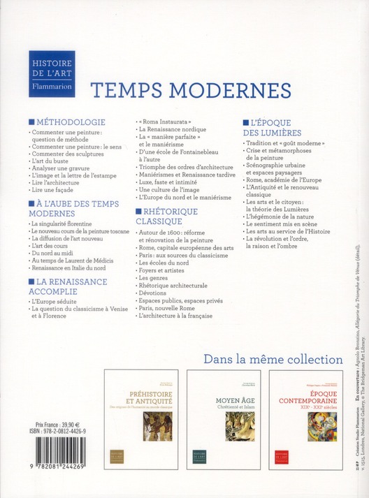 Manuel temps modernes ; XV-XVIIIe siècles
