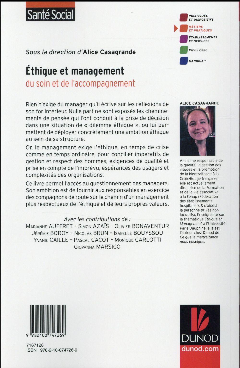 éthique et management médico-social