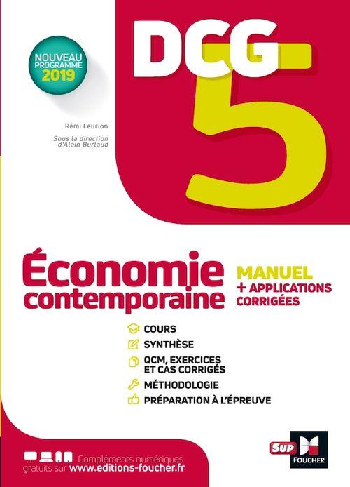 DCG 5 ; économie contemporaine ; manuel et applications
