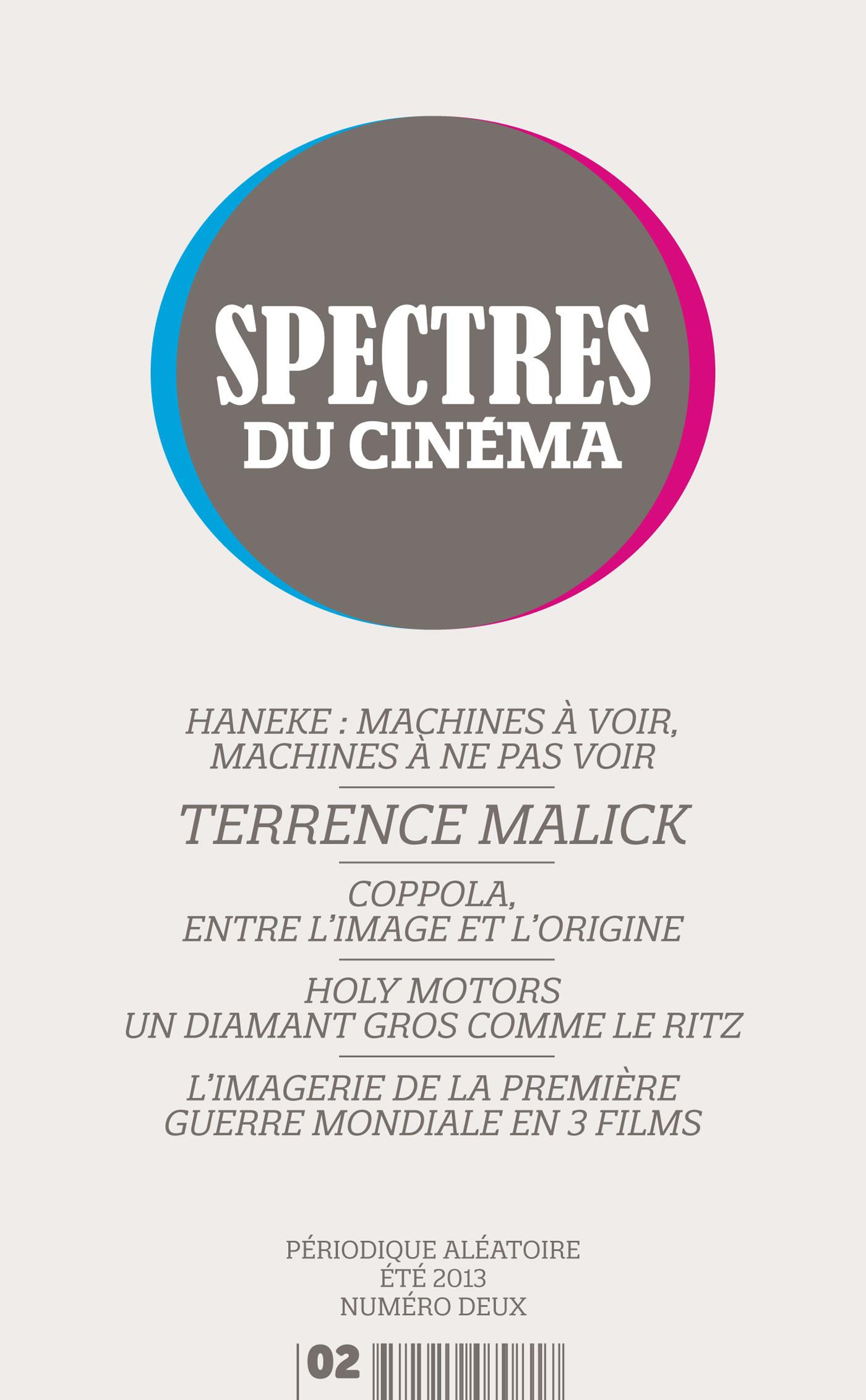 Spectres du cinema t.2 ; autour de Terrence Malick