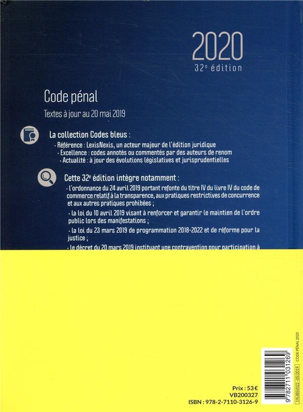 Code pénal (édition 2020)