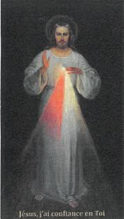 REPRODUCTION DU TABLEAU ORIGINAL DE JESUS MISERICORDIEUX 12X7 CM SUR PAPIER BRILLANT EPAIS PAR LOT D