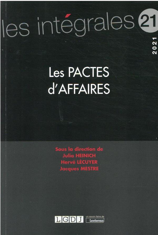 les pactes d'affaires (édition 2021)