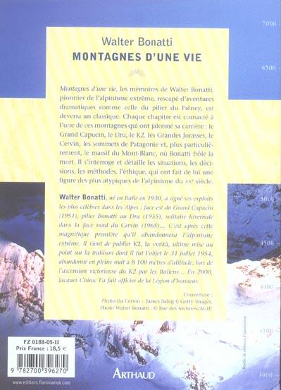 montagnes d'une vie (nouvelle edition)