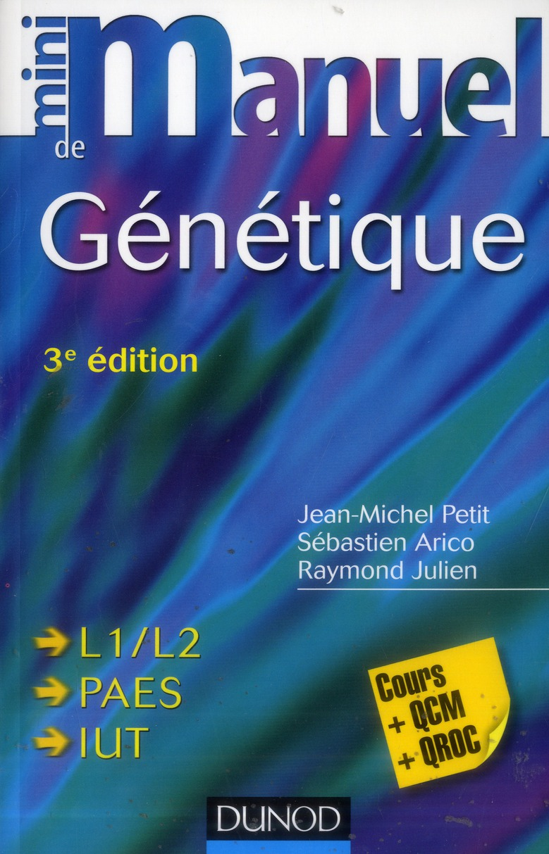 Mini Manuel; Genetique (3e Edition)