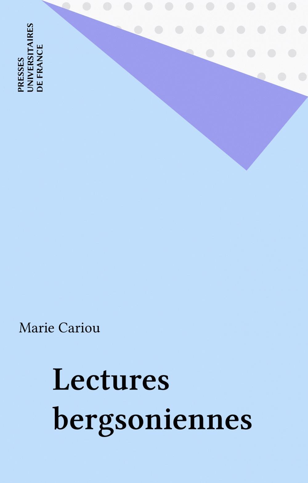 Les lectures bergsoniennes