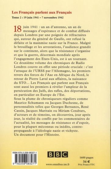 les Français parlent aux Français t.2 ; 1941-1942