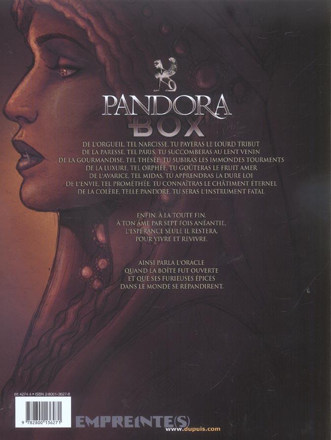 Pandora box T.1 ; l'orgueil