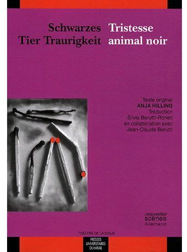 Schwarzes tier traurigkeit ; tristesse animal noir