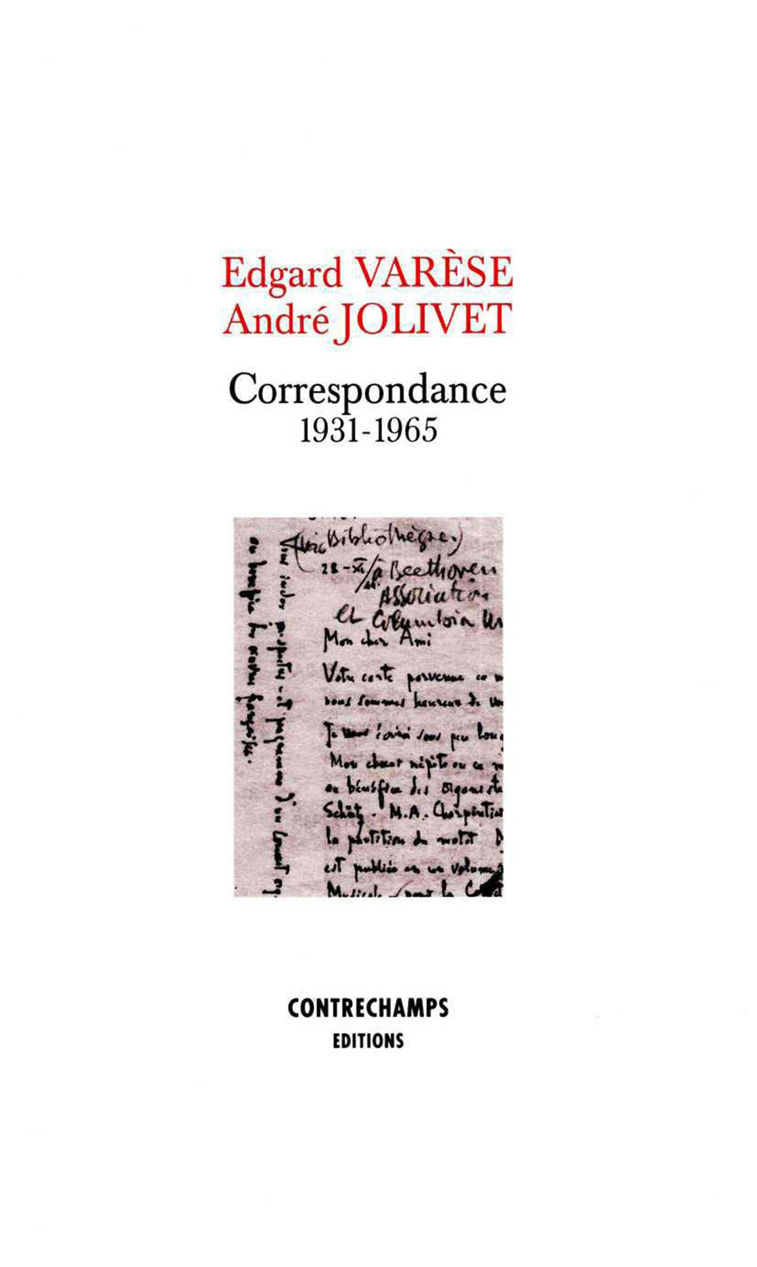 Correspondance 1931-1965