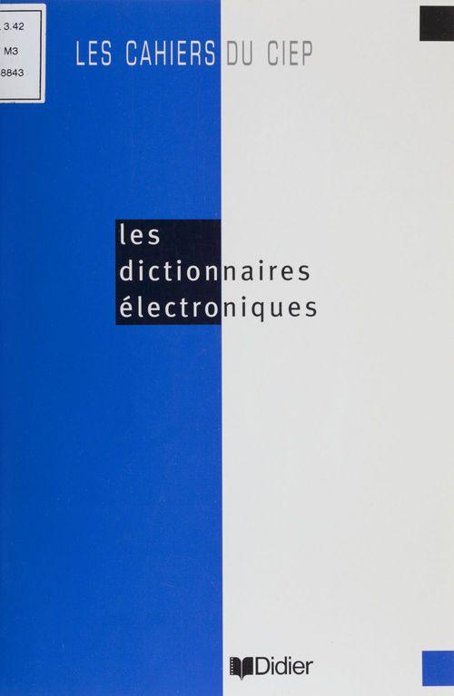 Les Dictionnaires électroniques