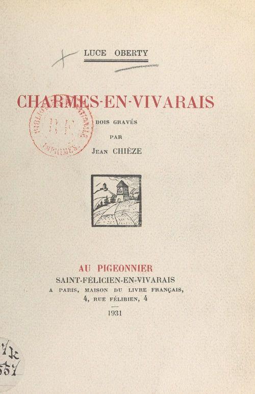 Charmes-en-Vivarais  - Luce Oberty