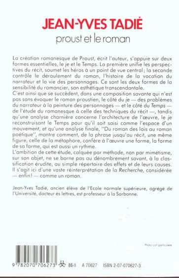 Proust et le roman - essai sur les formes et techniques du roman dans