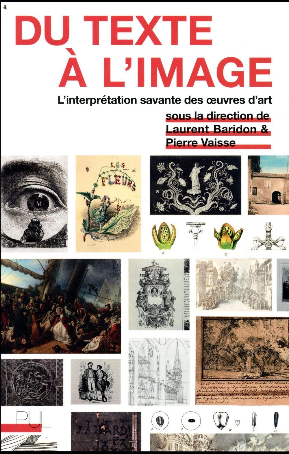 Du texte à l'image ; l'interprétation savante des oeuvres d'art