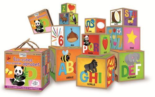 Eco-Cubes ; Mon Premier Alphabet ; Cubes Emboitables Et Livre