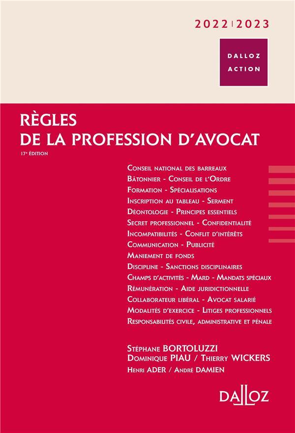 Règles de la profession d'avocat (édition 2020/2021)