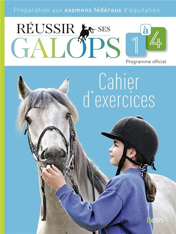 Réussir ses galops 1 à 4 ; cahier d'exercices , préparations aux examens fédéraux d'équitation