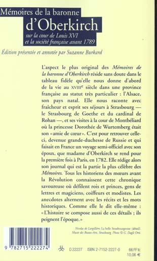 Memoires sur la cour de louis xvi et la societe francaise avant 1789